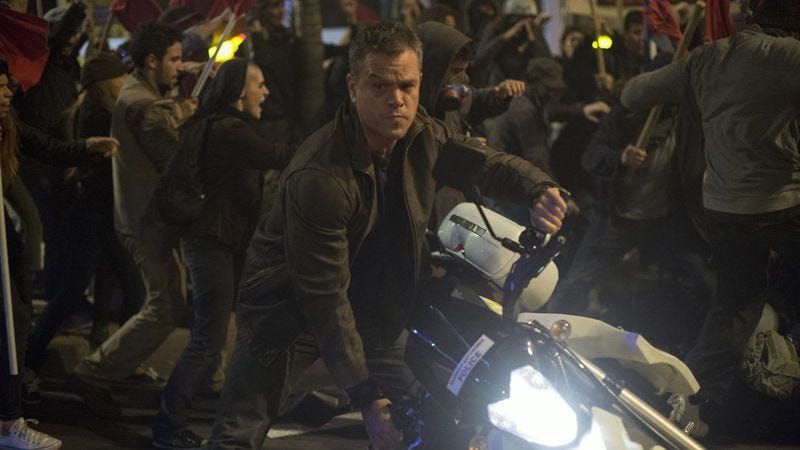 Matt Damon in Jason Bourne, a movie that is causing Chinese audiences to barf.