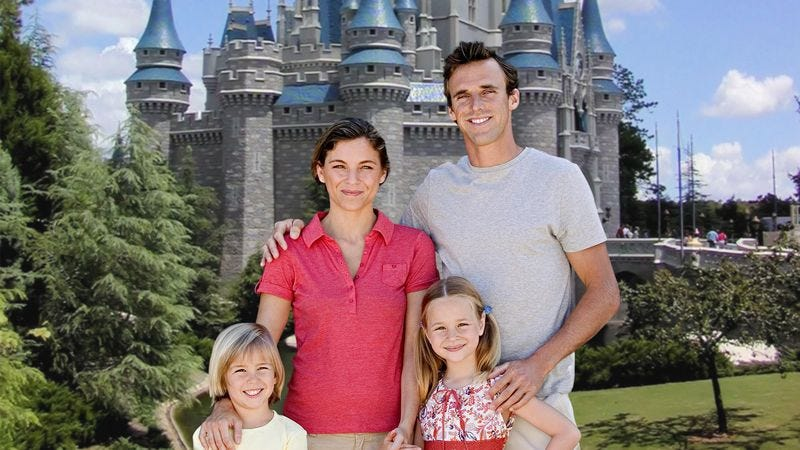 Illustration for article titled Herculean Effort, Astronomical Expense Lead To Photo Of Whole Family At Disney World