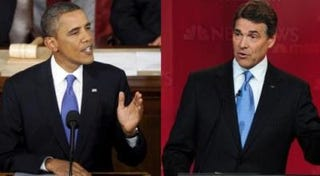 President Barack Obama; Gov. Rick Perry (Getty Images)