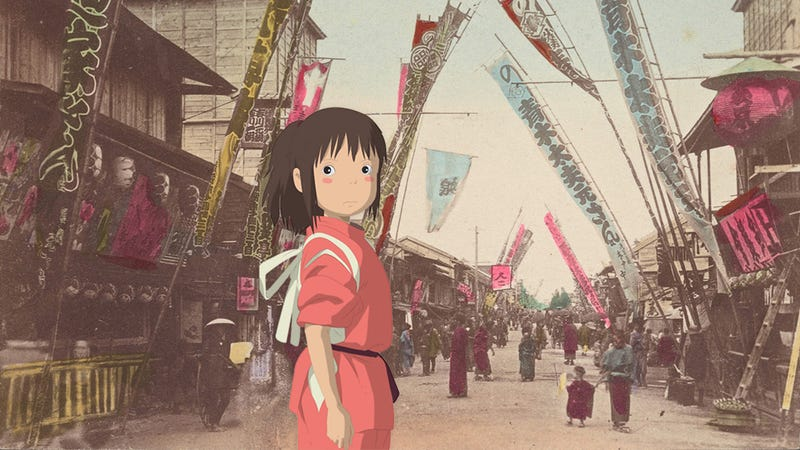 Illustration for article titled These 100-Year-Old Postcards From Japan Are Like Perfect Frames From a Lost Miyazaki Anime