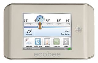 Illustration for article titled Ecobee Smart Thermostat Can Adjust Home Temps Online