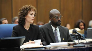 Sarah Paulson as Marcia Clark and Sterling K. Brown as Christopher Darden in The People v. O.J. SimpsonRay Mickshaw/FX
