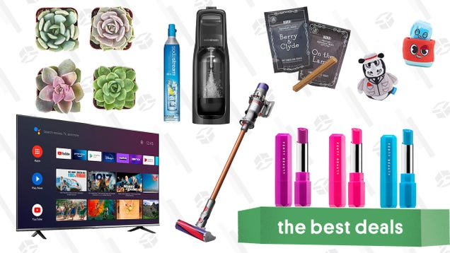 Saturday s Best Deals: TCL 50  4K Smart TV, BarkBox Monthly Subscription Box, Succulents & Plants, SodaStream Kit, Fenty Poutsicle Lipsticks, and Dyson V10 Absolute