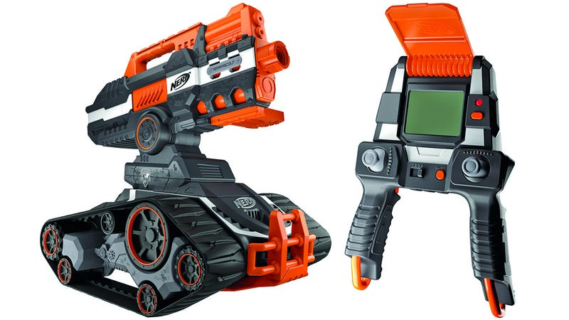 Illustration for article titled Nerf's New Dart-Blasting RC Battle Tank Is Straight Out ofTerminator