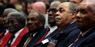 Black veterans commemorate the desegregation of U.S. armed forces in 2008. (Alex Wong/Getty Images)