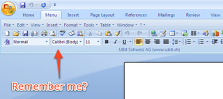 Illustration for article titled UBitMenu Brings the Microsoft Office 2003 Menu Back to Office 2007