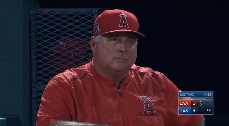 Illustration for article titled Rangers' Double Play Breaks Mike Scioscia's Spirit
