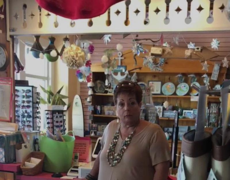 Unidentified NJ Shore gift shop employee