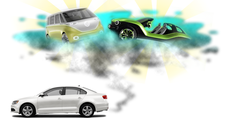 Illustration for article titled Volkswagen Could Have the Best Electric Lineup—and It's All Thanks to Dieselgate