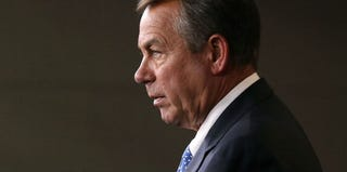 GOP House Speaker John Boehner (R-Ohio) attends a recent news conference. (Mark Wilson/Getty Images)