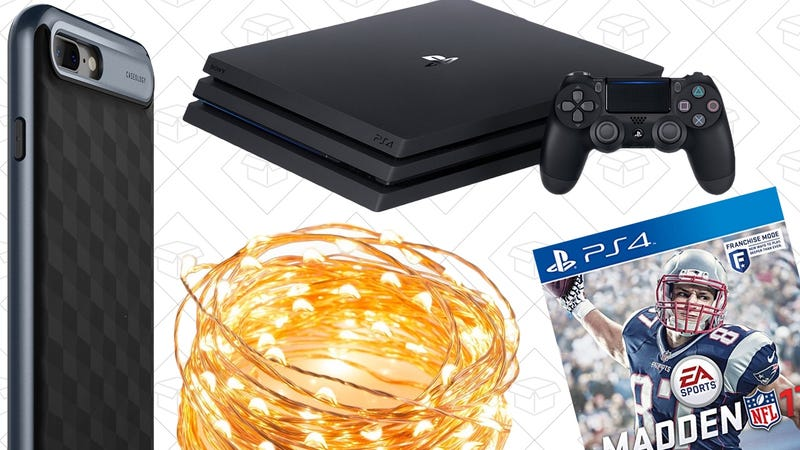 Illustration for article titled Today's Best Deals: iPhone 7 Cases, Madden 17, Copper String Lights, and More