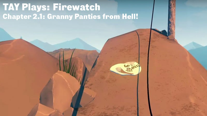 Illustration for article titled TAY Plays: Firewatch - Granny Panties from Hell!