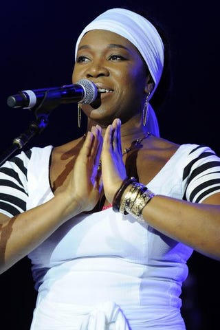 India.Arie performs at the 2014 Byron Bay Bluesfest April 18, 2014, in Australia.Matt Roberts/Getty Images
