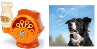 Illustration for article titled Gazillion Fetch a Bubble Machine Drives Dogs Wild