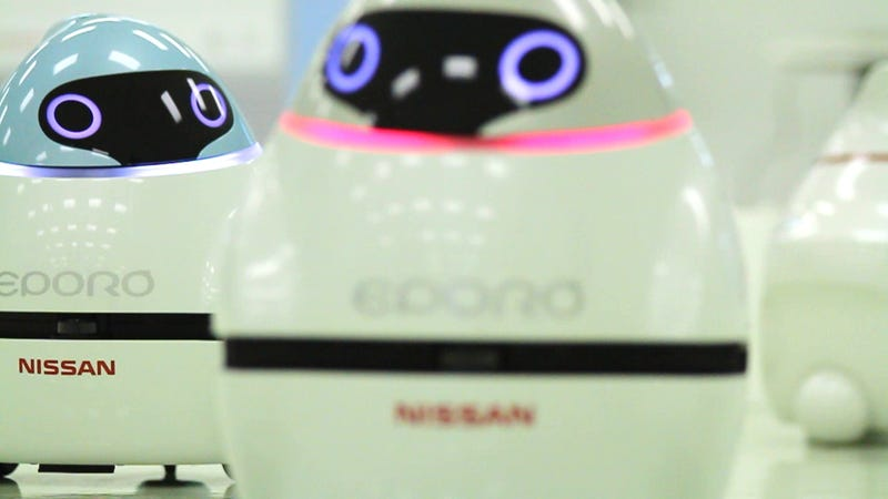 Illustration for article titled Nissan's Chick-Like Robots Indicate A Smart (And Cute) Future