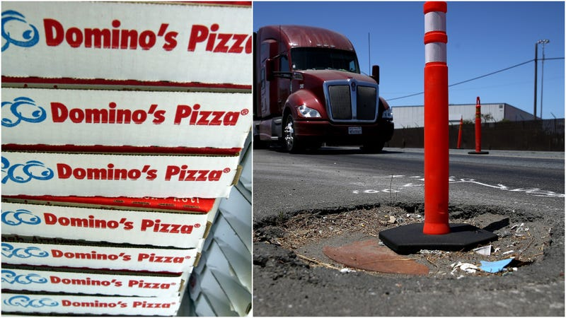 Illustration for article titled Domino's offers to fix your town's pothole epidemic