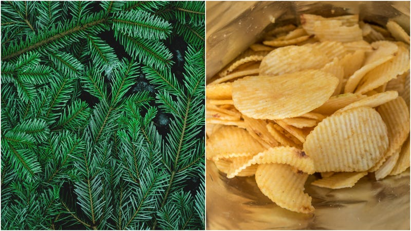 Illustration for article titled British grocery chain spruces up shelves with Christmas-tree flavored chips