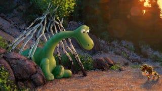 Illustration for article titled Pixar's Good Dinosaur Originally Modeled Its Dinos After Amish Farmers?