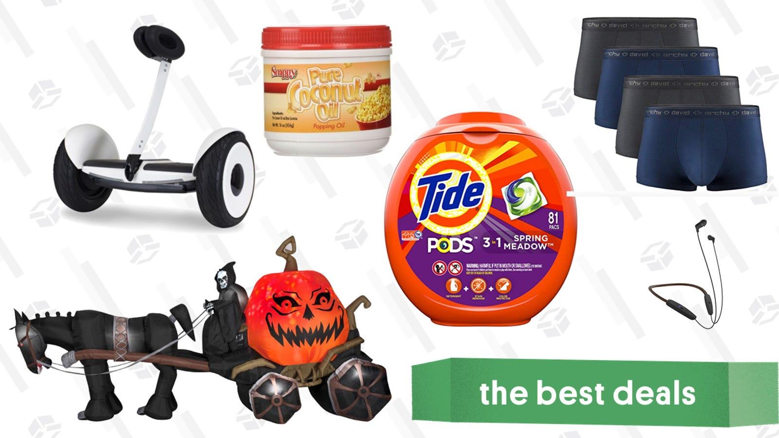 Saturday's Best Deals: David Archy Underwear, Snappy Popcorn Oil, Halloween Decor, and More