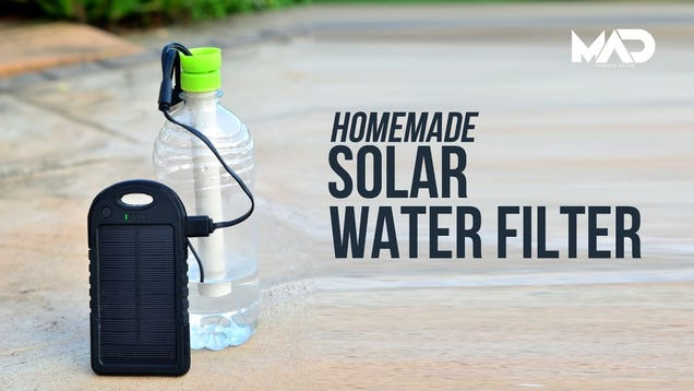 Make A Solar Powered Survival Water Filter Out Of Two