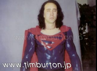 Illustration for article titled The Nic Cage/Tim Burton Superman That Never Was