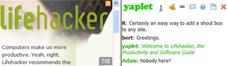 Illustration for article titled Add chat to any site with Yaplet