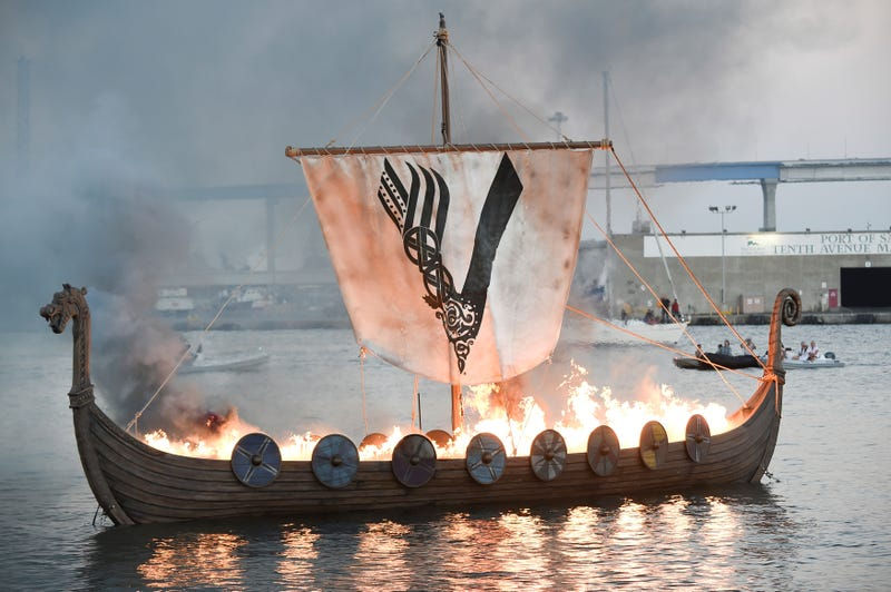 Image result for viking funeral