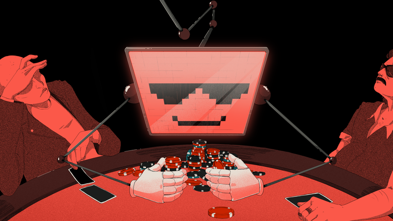 Illustration for article titled 'Superhuman' AI Crushes Poker Pros at Six-Player Texas Hold'em