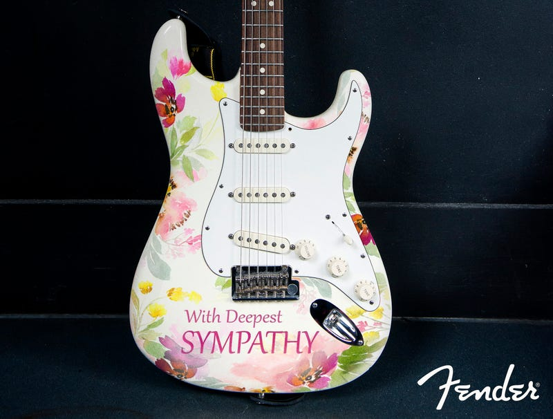 Illustration for article titled Fender Introduces New Line Of Sympathy And Bereavement Guitars