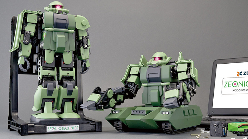 Build your own Zaku, and give it the power to help Zeon fight the Earth Federation.