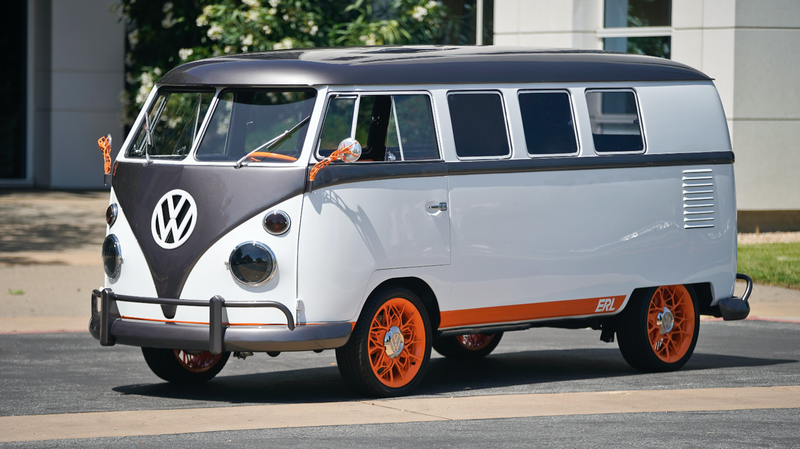 Illustration for article titled Volkswagen's Research Lab Turned an Old Microbus Into an EV Technology-Crammed Concept Vehicle
