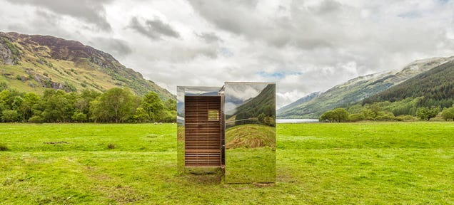 This lookout made of mirrors can hide in plain sight for Capanno invisibile