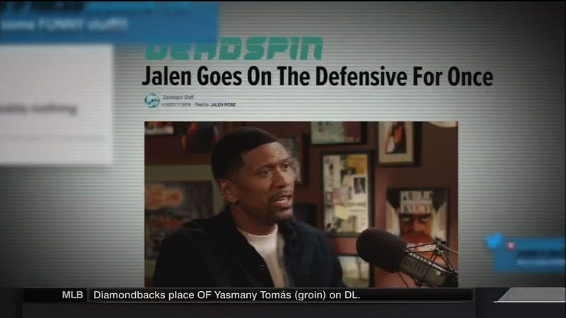 Illustration for article titled The Weirdest Part Of Jalen Rose's Sitcom Was The Fictional ESPN