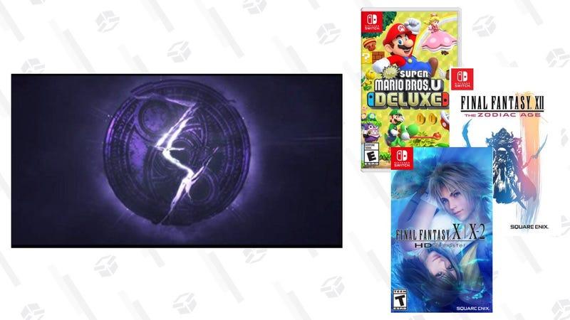 New Super Mario Bros U Deluxe, Nintendo | $48 | WalmartBayonetta 3 | $50 | WalmartFinal Fantasy XII: The Zodiac Age | $42 | WalmartFinal Fantasy XIX-2 HD Remaster | $43 | Walmart