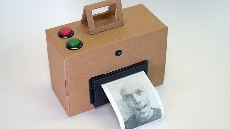 Illustration for article titled Build an Instant Camera with a Raspberry Pi and a Thermal Printer