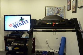 Illustration for article titled Watch a Race Course DVD While Treadmilling to Simulate Running Outside