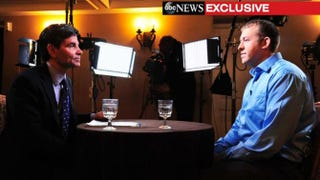 ABC's George Stephanopoulos speaks with Officer Darren Wilson Nov. 25, 2014, about the events that took place Aug. 9 that left unarmed teen Michael Brown dead.  Twitter