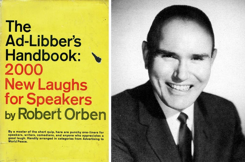 Cover of the 1969 book The Ad-Libber's Handbook and the author Robert Orben