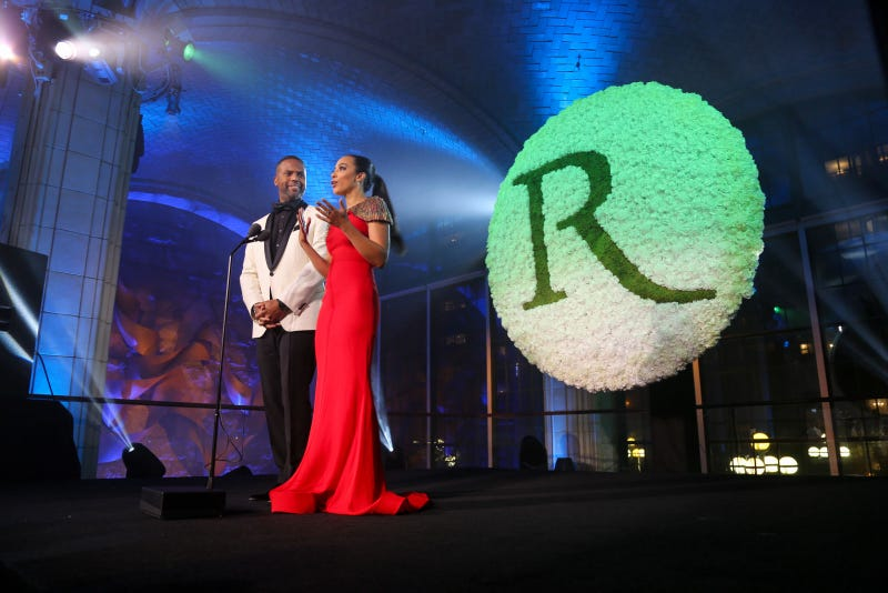 A.J. Calloway and Angela Rye, hosts of The Root 100 gala in 2017