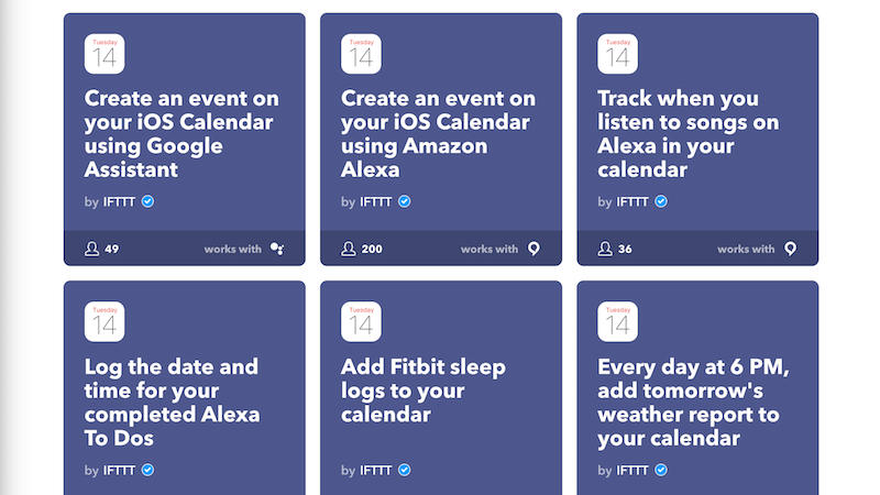 Illustration for article titled IFTTT Adds Support for the iPhone Calendar and App Store