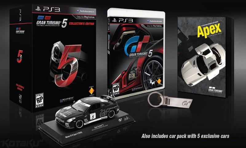 Illustration for article titled Gran Turismo 5's Collector's Edition Is Reward For Your Patience