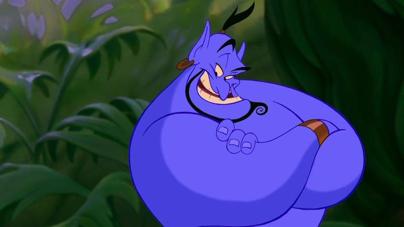 Illustration for article titled El testamento de Robin Williams impide a Disney usar material inédito del Genio de Aladdín