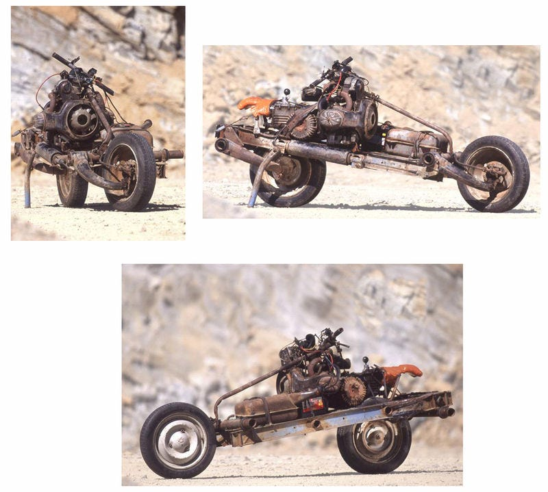 Illustration for article titled The 2CV Based Desert Bike of Emile Leray