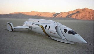 Land Speed Record >> Steve Fossett S Spaceship Like Land Speed Record Car For Sale
