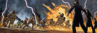 Illustration for article titled A Flaming, Chaotic Vision Of One Of The Most Awesome Battle Scenes Ever