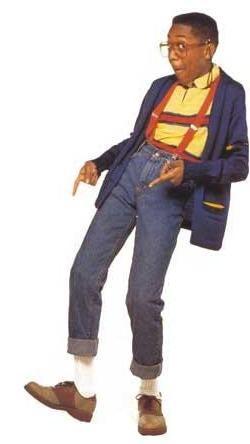 Actor Jaleel White as Steve Urkel