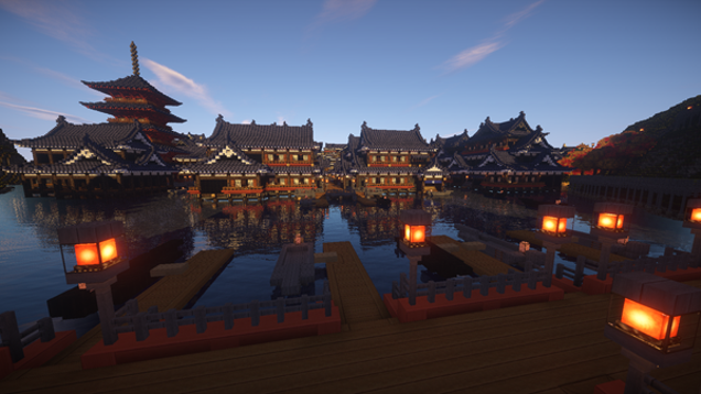 Minecraft Japanese Village ancient japan has never looked better in minecraft