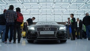 Illustration for article titled Audi Has The Prettiest Booth At CES