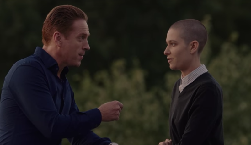 Damian Lewis as Bobby Axelrod and Asia Kate Dillon as Taylor Mason in Billions. Screenshot via Showtime.