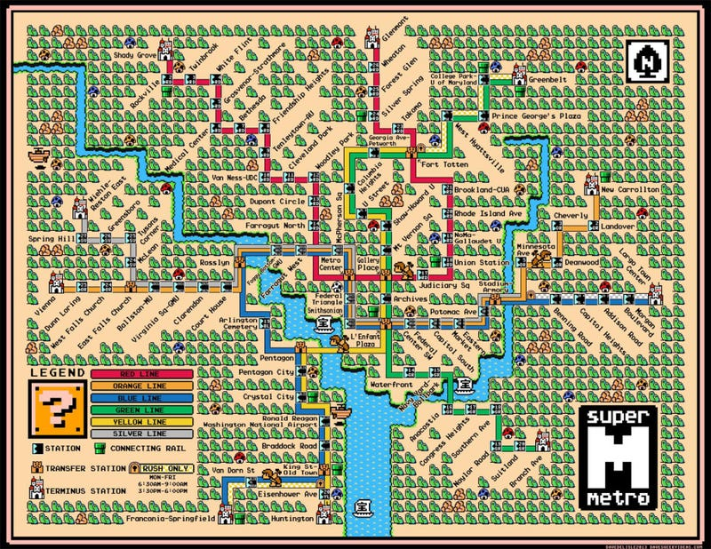 Illustration for article titled Awesome Mario Subway Maps Will Make You Want to Grab a Frog Suit